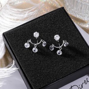 Silver CZ Stud w/Matching Earring Jackets